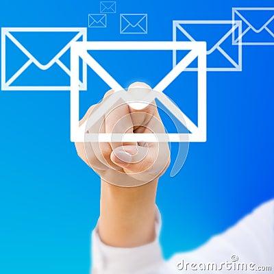 Finger choosing mail