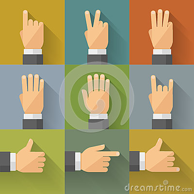 Free Finger Count Icons 001 Royalty Free Stock Photos - 51821078