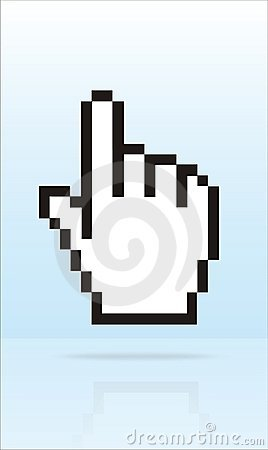 Free Finger Cursor Royalty Free Stock Image - 1363306