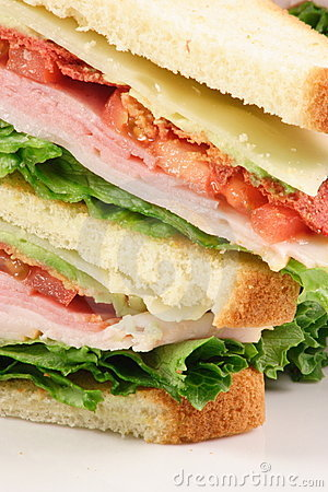 Finger food lovers club sandwich