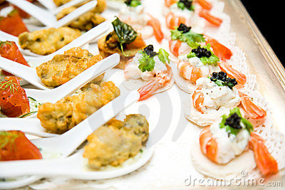 Finger food ready for the reception