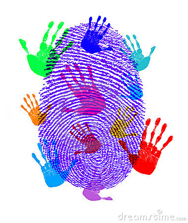 Finger Hand Prints Print