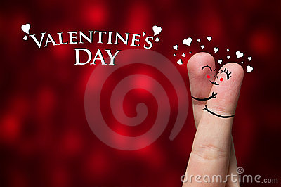 Finger Hug On Valentine's Day Theme Royalty Free Stock Images - Image: 17565879