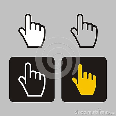 Finger icon, cursors