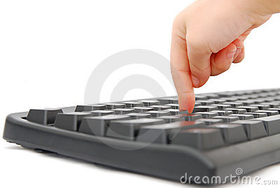 Finger and keyboard