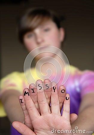 Finger Message I Miss You