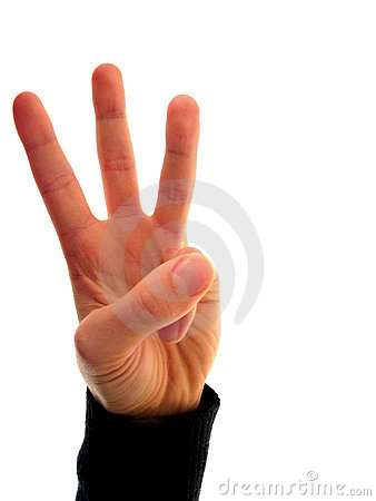 Finger number 3 Stock Photo