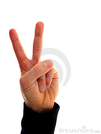 Finger Numbers 2 Royalty Free Stock Photos - Image: 1558