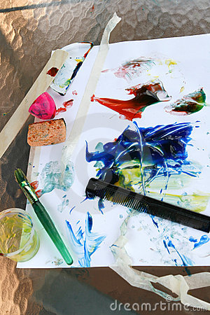 Finger Painting Tools-Vertical