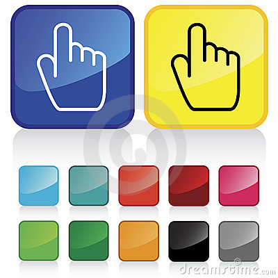 Finger pointing button