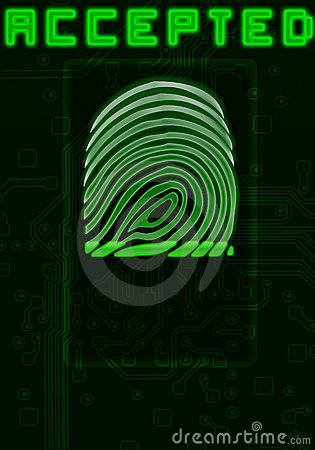 Finger-print background
