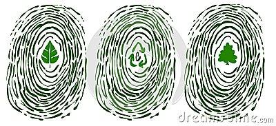 Finger print with environment symbols