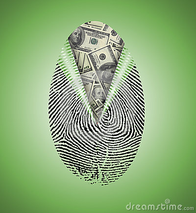 Finger Print reveals currency