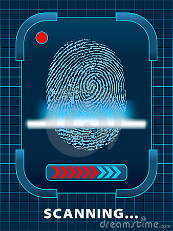 Finger-print scanning.