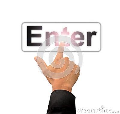 Finger push enter button