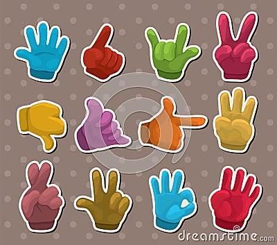 Finger sticker