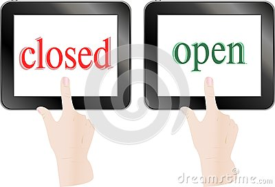 Finger touch screen tablet pc - open closed theme