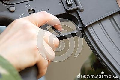 Finger on a trigger