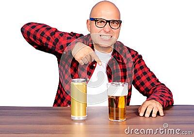 Fingering the beer