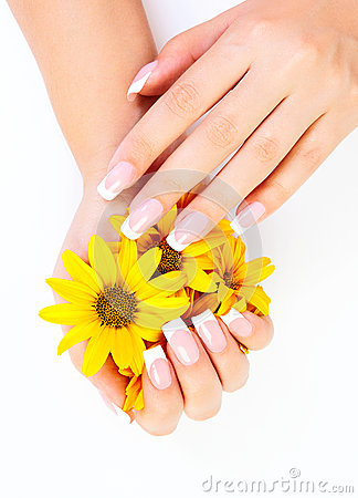 Free Fingernails And Flowers Royalty Free Stock Images - 26712109