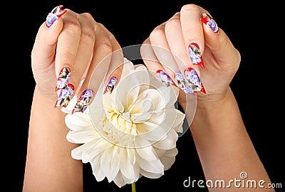 Fingernails and flower