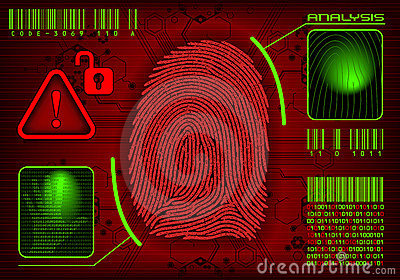 Fingerprint Access Stock Images - Image: 12568204