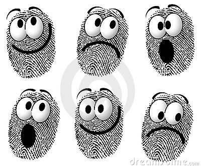 Fingerprint Cartoon Faces