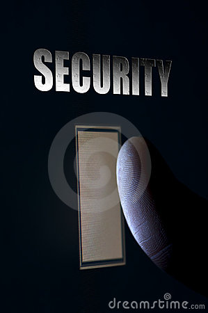 Fingerprint Security Scan Concept