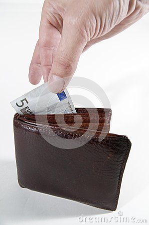 Free Fingers On The Money Stock Images - 34931214