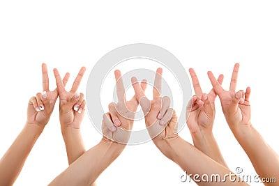 Fingers point www symbol
