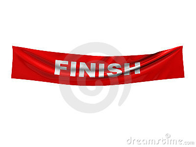 Finish banner