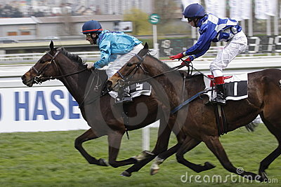 Finish of horse racing race in Grand prix FRBC Editorial Image