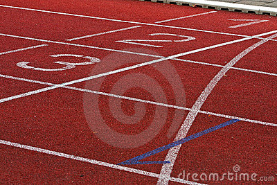 Finish Lane in Athletic Stadion