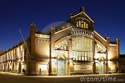 Finland: Classic market hall architecture Editorial Photography