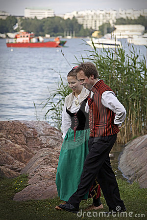 Finland: Folk Dancing Editorial Photo