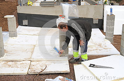 Finland: Sauna Construction - Insulation  Editorial Stock Photo