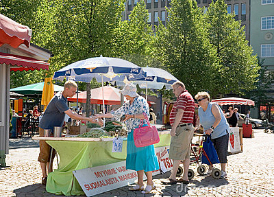 Finland. Lahti. Market Square Editorial Stock Photo