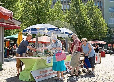 Finland. Lahti. Market Square Editorial Stock Photo