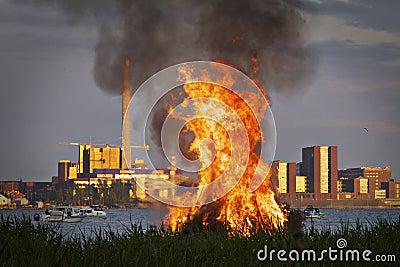 Finland: Mid summer bonfire