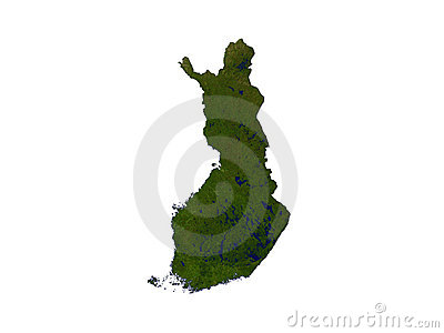 Finland On White Background
