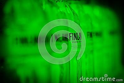 Finlandia vodka brand Editorial Stock Image