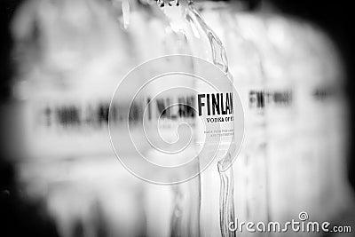 Finlandia vodka brand Editorial Image