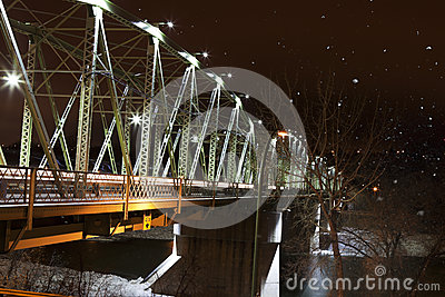 Finlay Bridge on a Snowy Night