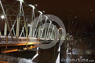 Finlay Bridge on a Snowy Night