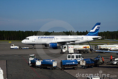 Finnair A320 Editorial Photography