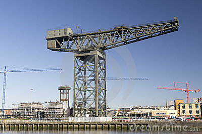 Finnieston crane Glasgow landmark on River Clyde