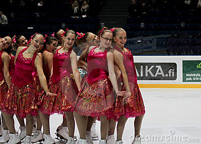 Finnish Championships 2010 - Synchronized Skating Editorial Image