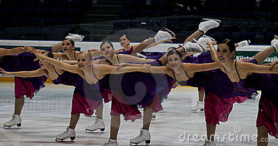Finnish Championships 2010 - Synchronized Skating Editorial Photography