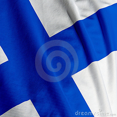 Finnish Flag Closeup