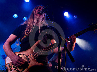 Finnish heavy metal band Tarot live on stage Editorial Photography
